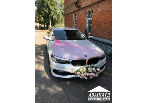 свадебный кортеж бмв 5 Пенза, машины на свадьбу, заказ авто с водителем